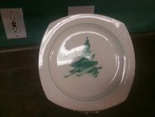 NIKKO JAPAN EVERGREEN SERVING PLATTER CHRISTMAS TREE PINE GREEN