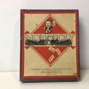 Vintage Monopoly John Sands Australia Pieces Box, No board  #568