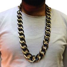 Hip Hop Cadena Collar • Largo 33cm • Oro Estilo • Disfraz # 199