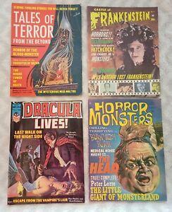Vintage HORROR MONSTERS Comic Magazines Marvel Frankenstein Tales of Terror Rare