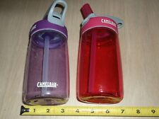 (2) Camelbak New Water Bottle Sippy Cup - Spill-Proof Pink & Purple