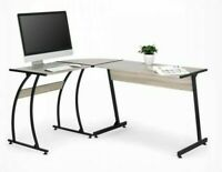 L-Shaped Computer Desk Office PC Work Space, Study area, Wooden Top Counter New