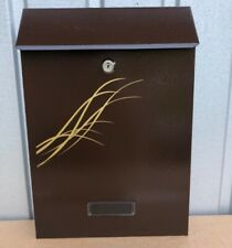 mailbox brown chocolate italian style Wall Mounted Exterior Post box vintage