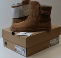 Authentic UGG Cara Ankle Fringe Suede in Chestnut Women's Boots Brand New