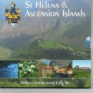 RARE AND STUNNING St HELENA & ASCENSION ISLANDS BUNC 8 COIN SET