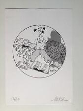 TINTIN EX LIBRIS N° SIGNÉ HERGI PASTICHE / HERGE / 1996 / 21 X 29,5 CM / RARE