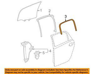 NEW OEM GM Rear Door Glass Inner Weatherstrip 15780388 Chevrolet Impala 2006-13