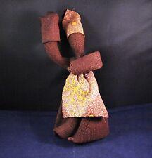 """Unique 10"""" Dark Brown Burlap Doll Wire Frame"""