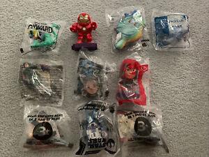 McDonald's Happy Meal Toys Lot 10 Disney Marvel Frozen Star Wars Boba Fett Mulan