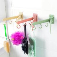 Rotating Self Adhesive Hook Wall Door Bathroom Kitchen Hook Hanger Storage Rack