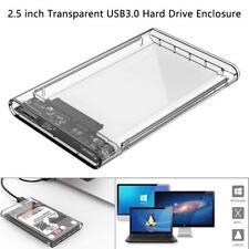 2.5 inch SATA HDD Enclosure 2TB Super-speed USB 3.0 HD Hard Drive Box CA SC #420