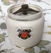 Rare, 19th Century MacIntyre Tobacco-Jar; Colin Lunn, Ox. St John's Coll. Crest