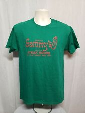 Famous Sammys Roumanian Steak House on Lower East Side Adult Medium Green TShirt