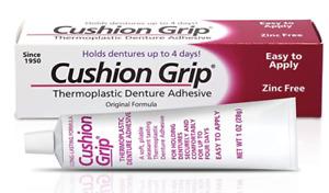 Cushion Grip - Thermoplastic Denture Adhesive (28g) FREE FAST UK DISPATCH