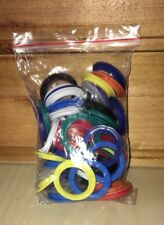 """Plastic Rings Crafts Supplies Sewing Crochet Costumes Multicolor 1 1/4"""" Diameter"""