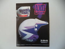 advertising Pubblicità 1989 CASCO HELMET AXO ENDURO CROSS