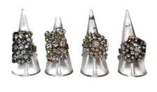 Chicas & Perlas enorme contribución Ajustable Anillos de cristal claro 4 variaciones