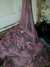"""1M  CATIONIC Dusky  rose pink SOFT  DRESS CHIFFON FABRIC 58"""" WIDE"""