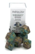 Halfsies Dice GKG226 Treant Dice Forest Green & Bark Brown 7-Die Polyhedral Set