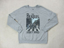 Beatles Sweater Adult Medium Gray Black Abbey Road Concert Tour Rock Band Mens
