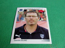 N°30 LAURENT BLANC GIRONDINS BORDEAUX PANINI FOOT 2009 FOOTBALL 2008-2009