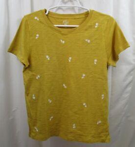 Women's J Crew Embroidered T Shirt Medium