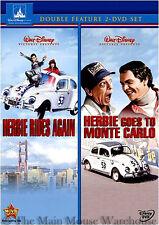 Love Bug Sequels Herbie Rides Again & Herbie Goes To Monte Carlo 2 Movie DVD Set