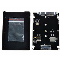 Black B   M key Socket 2 M.2 NGFF (SATA) SSD to 2.5 SATA Adapter Card with Case