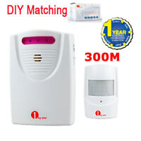 1byone Wireless Security Driveway Motion Sensor Alarm Alert System Weatherproof
