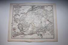 Carte de 1879, atlas Stieler,Gotha J. Perthes  Nordwet-Afrika N°69
