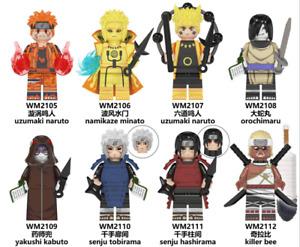 Passt LEGO Anmie Naruto Minifiguren Neuer Ninja Bausteine!Stark gegen Stark!!