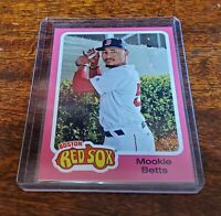 "MOOKIE BETTS SP #39 ""GREASE"" 2019 Topps Throwback #TBT PRINT RUN ONLY: 457 HOT!!"
