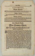 SONNENUHR Astronomie Orig TEXTBLATT um 1690 Quadrant Wissenschaft Garten PARK