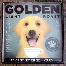 Metal Tin Sign golden light roast coffee Bar Pub Vintage Retro Poster Cafe ART