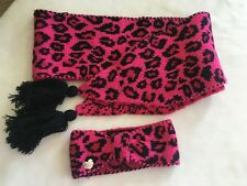 NWoT BETSEY JOHNSON LEOPARD SCARF AND HEAD BAND SET