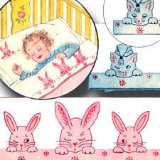 Vintage Bunnies & Kittens Applique Pattern