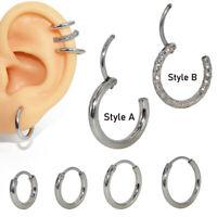 2pc Hoop Ring Nose Labret Ear Tragus Cartilage Earring Ear Stud Piercing Jewelry