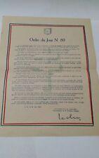 Le général Leclerc commandant la 2Db ORDRE DU JOUR N80 21 juin 1945
