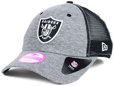 OAKLAND RAIDERS NEW ERA 9FORTY WOMEN'S NFL TRIBLEND TRUCKER CAP HAT