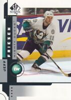 2001-02 SP Authentic Hockey Cards Pick From List