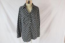 Women's Black & White Pattern LUKE BRYANT Long Sleeved Button Down Shirt (Sz 20)