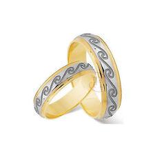 9 Carat Multi-Tone Gold Band Fine Rings
