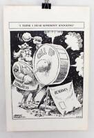 """Rare 1966 Vietnam War Frank Miller Editorial Cartoon Print ~ 19"""" x 12.5"""""""