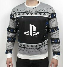 Official PlayStation Gamestripes Christmas Sweater - LARGE