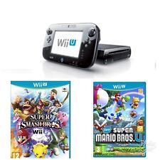Consola Nintendo Wii U 32 GB Negro + Super Mario Bros + paquete de Super Smash Bros
