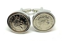 Luxury Wedding Anniversary Cufflinks made from real coins 2010 Tin 10th Wedding