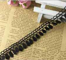 5 Yard Vintage Fringe Tassel Black Lace Wedding Trim Ribbon Applique Sewing