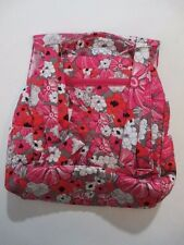 """VERA BRADLEY"" INSPIRED QUILTED 100% QUILTED COTTON PINK/RED BACK PACK"