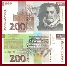 Slovenia P15d, 200 Tolar, organ, composer Gallus / Philharmonic Hall, music note