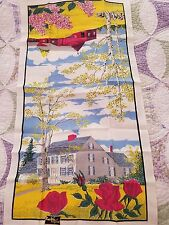 NWT Kay Dee Hand Prints 100% Pure Linen Tea Towel-Spring/Roses